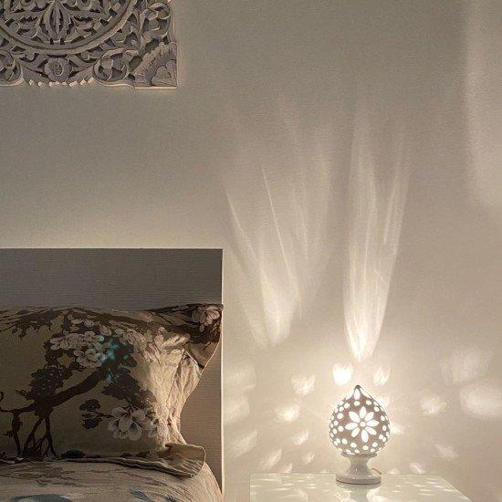 Lampada da comodino 20 cm pois fiore