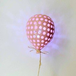 Palloncino LED 14 cm pois